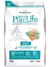 Pure Life Adult With Duck and Turkey полнорационный корм для взрослых кошек. Подходит для взрослых кошек с чувствительным пищеварением и пищевой непереносимостью зерновых или глютена