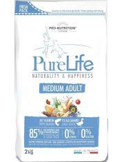 Pure Life Adult Medium полнорационный корм для взрослых собак. Также подходит собакам с чувствительным пищеварением и склонным к аллергиям