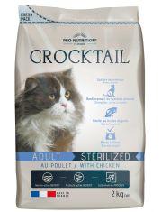 Crocktail Adult Sterilized With Chicken полнорационный корм для стерилизованных кошек. Подходит кошкам со склонностью к набору избыточного веса, курица