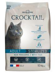 Crocktail Adult Sterilized With Fish полнорационный корм для стерилизованных кошек. Подходит кошкам со склонностью к набору избыточного веса, рыба