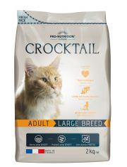 Crocktail Adult Large Breed  полнорационный корм для взрослых кошек крупных пород.  Подходит стерилизованным кошкам